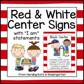 Red and White Striped Center Signs