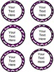 Red and White and Purple and white Chevron with Editable text boxes