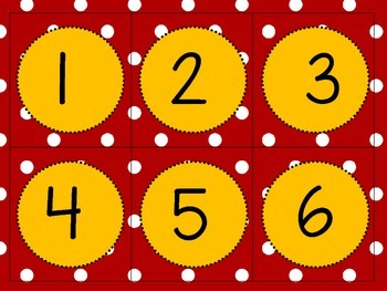 Red and Yellow Like THE Mouse Calendar Numbers!