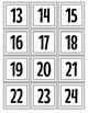"""Red and Yellow """"Mickey Inspired"""" Calendar numbers"""