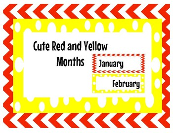 "Red and Yellow ""Mickey Inspired"" Months"
