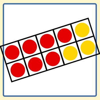 red and yellow ten frames 10 frame math clip art set commercial use rh teacherspayteachers com ten frame clip art free Empty Ten Frame Clip Art