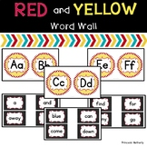 Red and Yellow Word Wall