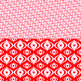 Red and white Valentine digital paper backgrounds with heart patterns