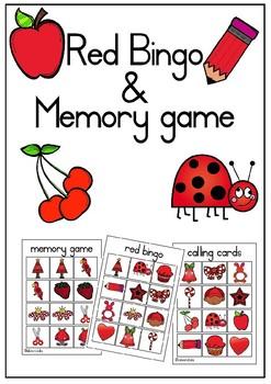 Red bingo pre-k