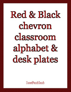 Red & black alphabet letters & nameplates