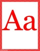 Red chevron alphabet letters & nameplates