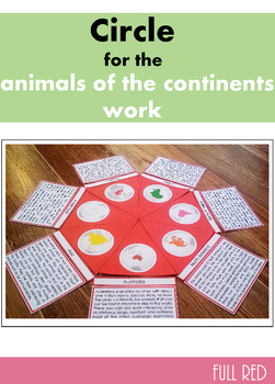 Red circle for the animals of the continents work