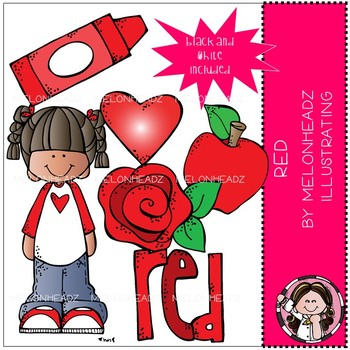 Red clip art - Mini - Melonheadz clipart