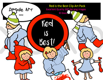 Red is the Best Clipart Pack