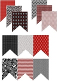 Red, white and black DIY and editable banner set - 12 designs