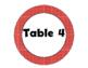 Red with Small White Lines Table Signs