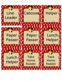 Red/White Polka Dot Library Card Labels