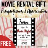 Redbox Movie Night Staff Appreciation Printable Gift Label
