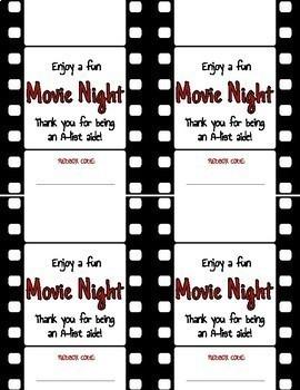 photograph regarding Redbox Printable named Redbox Video Night time Workforce Appreciation Printable Reward Label