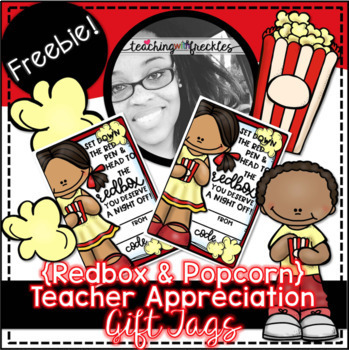 picture regarding Redbox Teacher Appreciation Printable titled Redbox Popcorn Instructor Appreciation Reward Tag FREEBIE TpT