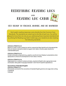 Redefining Reading Logs with the Reading Log Cabin {Common Core Aligned}
