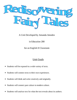Rediscovering Fairy Tales