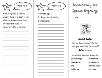 Rediscovering Our Spanish Beginnings Trifold - Wonders 4th Grade Unit 5 Week 5