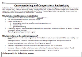Redistricting and Gerrymandering Lesson