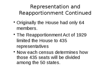 Redistricting and Reapportionment
