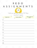 Redo Assignment Handout for Students or Post on Your Bulletin Board