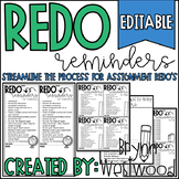 Redo Reminders-Streamline the Process for Student Redo's (