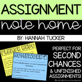 Assignment Notes Home: Second Chance Redo and Homework Slips
