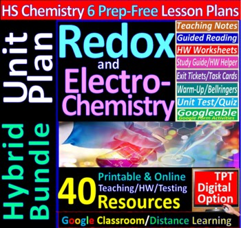 Redox & Electrochemistry -Engaging & Easy-to-learn Guided notes for HS Chemistry