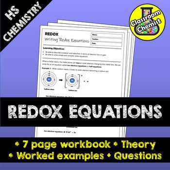 Redox Equations workbook