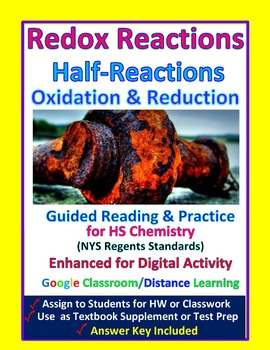 Redox, Oxidation, Reduction Half-reactions: Essential Skills Lessons #49 & 50