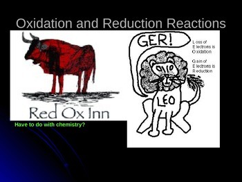 Redox- Oxidation an Reduction Equations