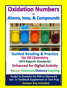 Oxidation Numbers in Compounds & Ions: Essential Skills Lesson & Worksheet #48