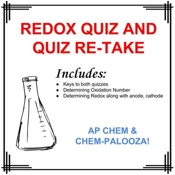 Redox Quiz with Re-take and Keys