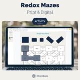 Redox Reactions Chemistry Mazes - Print & Digital   Digita