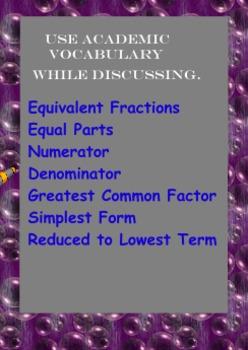 Reduce Fractions Flipchart