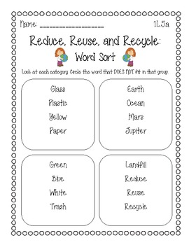 Reduce, Reuse, Recycle: A C... by First Grade Adventures ...