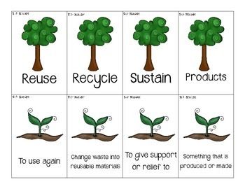 Reduce, Reuse, Recycle: A Comprehension and Vocabulary Activity