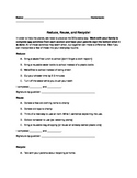 Reduce, Reuse, Recycle Application Homework