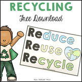 Reduce Reuse Recycle Coloring Pages FREE DOWNLOAD