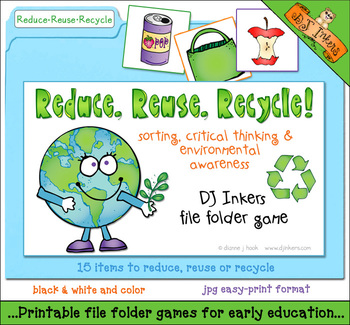 Reduce, Reuse, Recycle File Folder Game Download by DJ ...