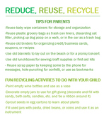 Reduce, Reuse, Recycle Handout