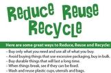 Reduce Reuse Recycle Informational Writting Worksheet