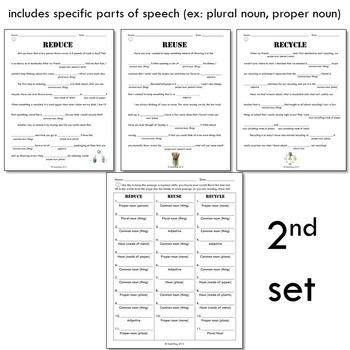 Parts of Speech Pollution Word Game