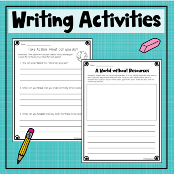 Reduce, Reuse & Recycle {Student Book, Notes, Sort, Writing and More!}