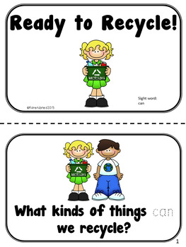 Reduce, Reuse, Recycle! Sight Word Book {FREEBIE}