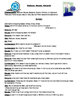 Reduce, Reuse, Recycle Skit, Reader's Theater
