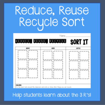 Reduce, Reuse, Recycle Sort