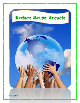 """Earth Day: Reduce, Reuse, Recycle """"The 3 R's to a cleaner Earth"""""""