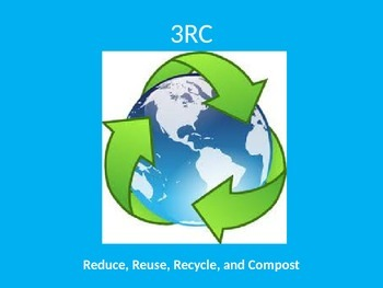 Reduce, Reuse, Recycle, and Compost PowerPoint with Fill-in Notes Sheet